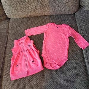 Carter's onesie with matching vest